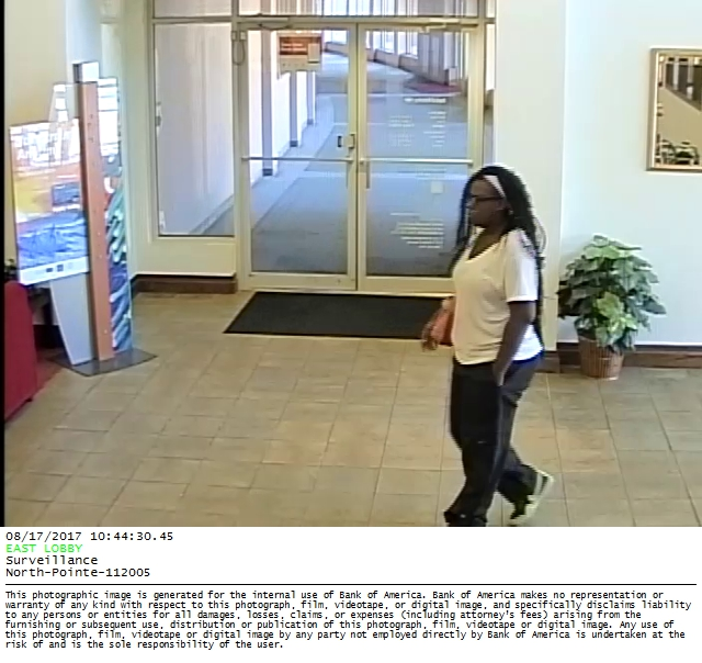 Officers responded to the Bank of America near M.L.K. Jr. Boulevard and Pine around 11 a.m. Thursday. Police released this surveillance image of the suspect. (TPD)