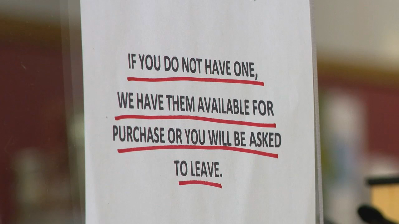 """Can private businesses deny shoppers entry if they don't wear a mask?"" a viewer asked News 13's I-Team Coronavirus Help Desk. (Photo credit: WLOS staff)"