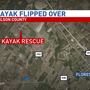Family of four rescued in kayak water rescue