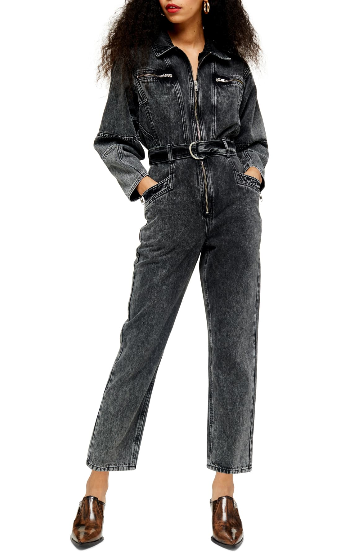 An acid-wash finish adds extra '80s vintage vibes to this utilitarian non-stretch denim jumpsuit. $125. (Image: Nordstrom){ }