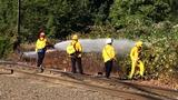 Fire burns brush near railroad tracks in Cottage Grove
