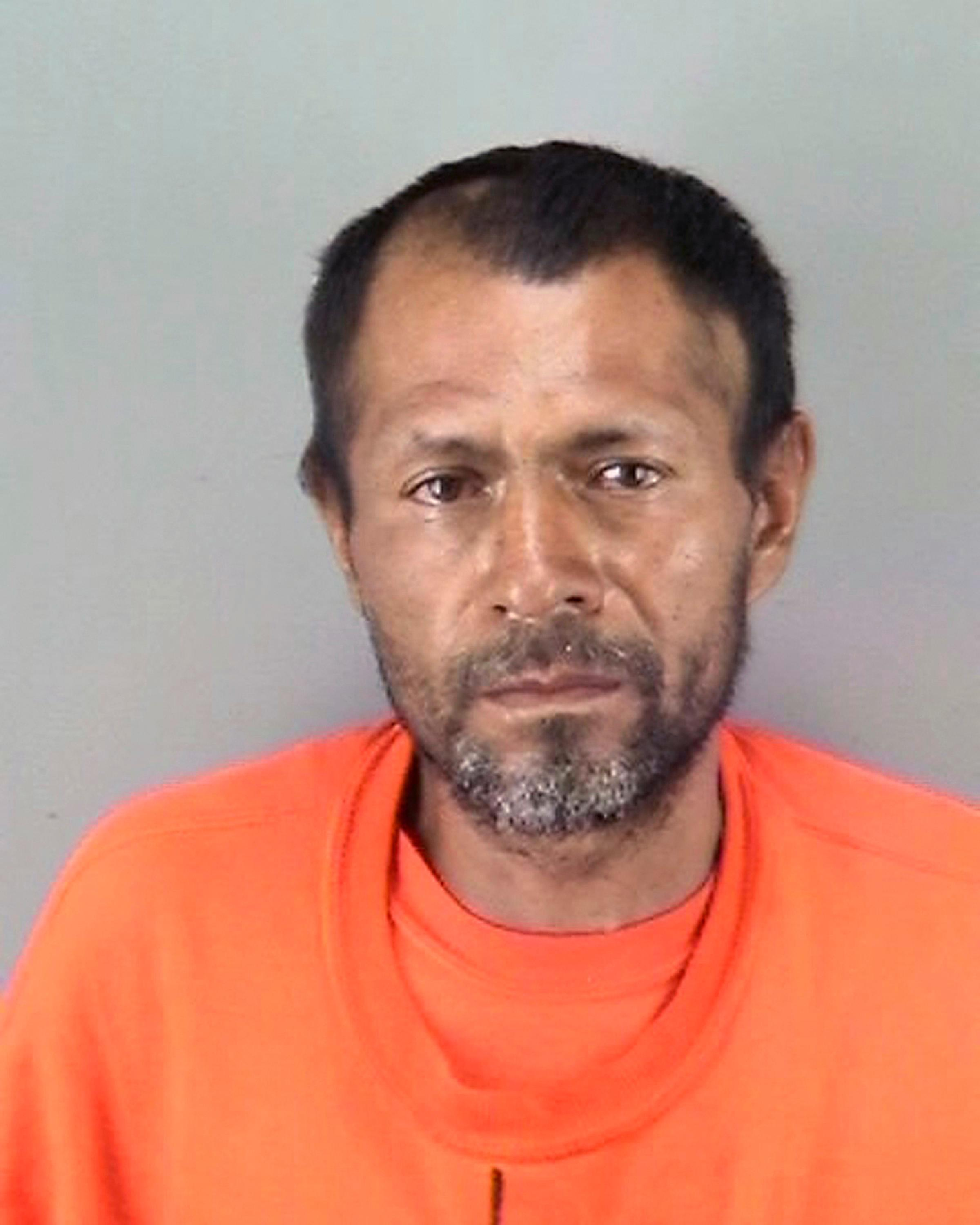FILE - This undated file booking photo provided by the San Francisco Police Department shows Jose Ines Garcia Zarate. Attorneys were beginning their final arguments Monday, Nov. 20, 2017, in the trial of Zarate, accused of killing a woman on a San Francisco pier in a case that touched off a national immigration debate. The trial resumed Monday morning with instructions to the jury reminding them not to read newspapers or view social media while they are considering the case.  (San Francisco Police Department via AP, File)