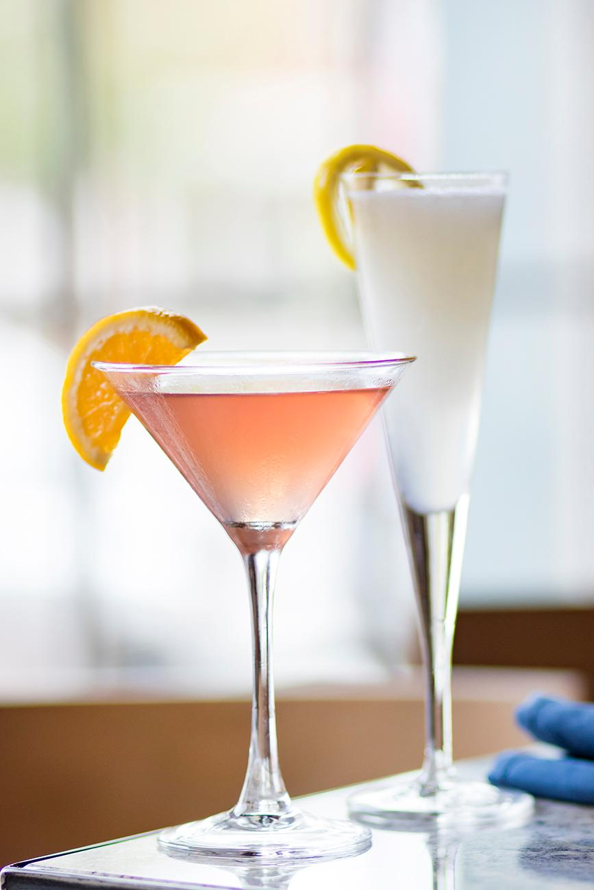 <p>Orangecello cosmo and Sgroppino Al Limone / Image: Allison McAdams // Published: 9.8.18</p>