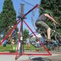 What is 'The Flanger'? Corvallis lends bike-powered contraption to Eugene Sunday Streets