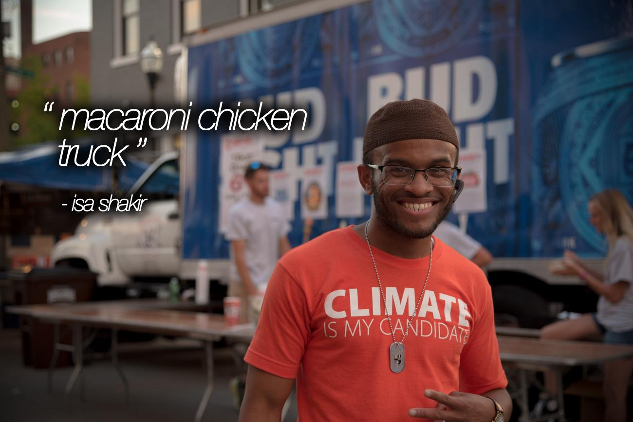"""Macaroni Chicken Truck"" - Isa Shakir / Image: Phil Armstrong, Cincinnati Refined"