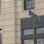 Local man goes 'over the edge' to send message