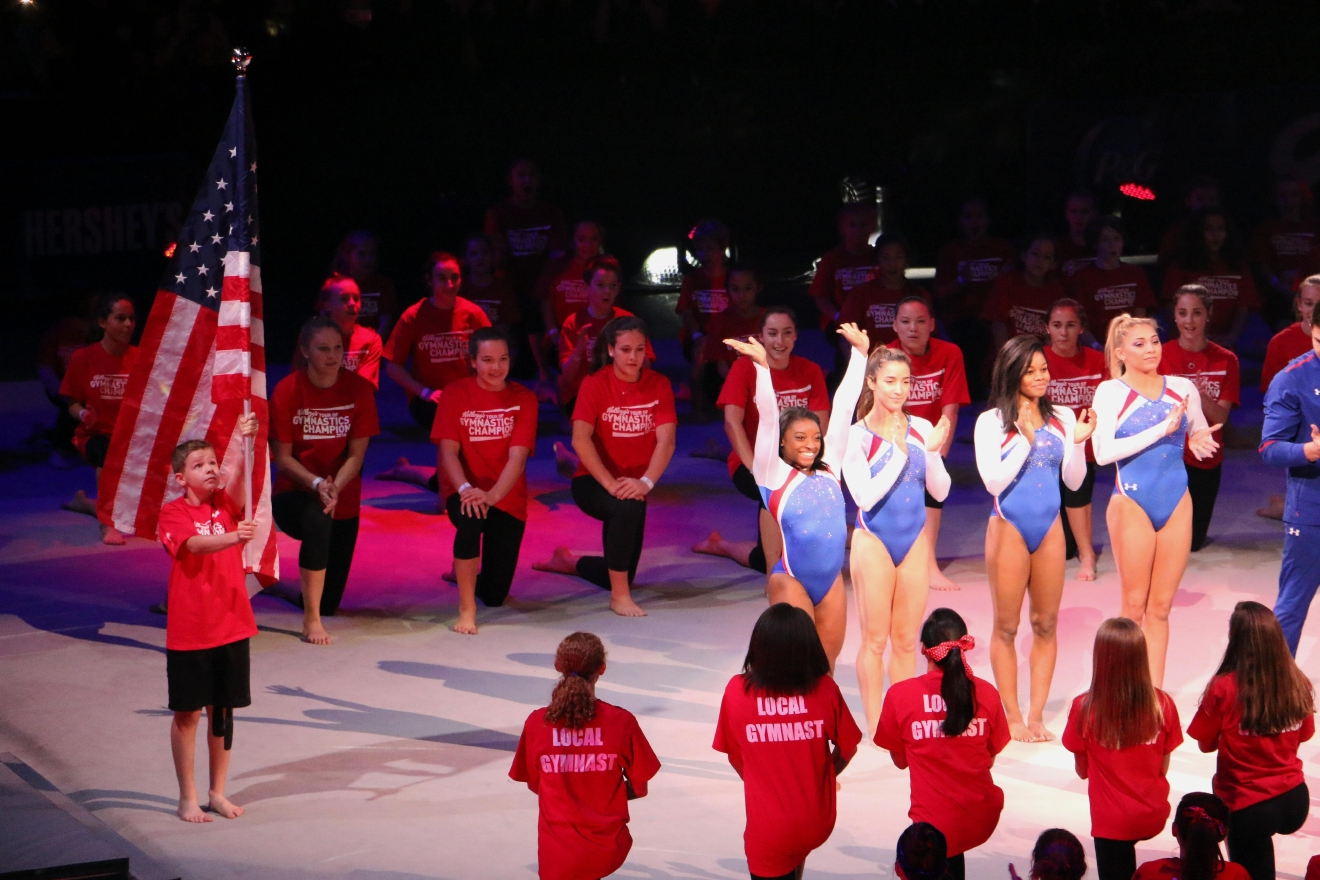 The 2016 Kellogg's Tour of Gymnastics Champions included members of both the 2012 and 2016 U.S. Olympic Gymnastics Teams. (Jai Williams)