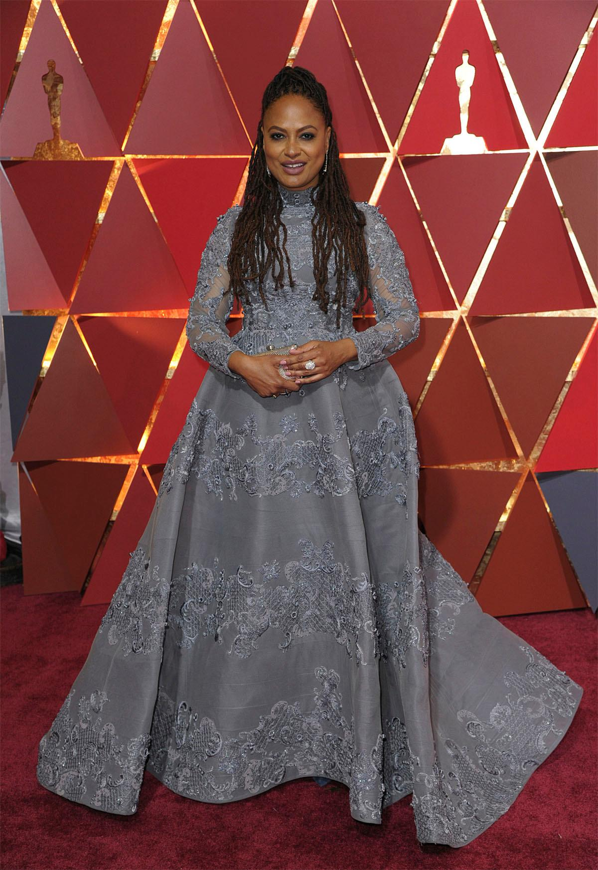 Ava DuVernay arrives at the Oscars on Sunday, Feb. 26, 2017, at the Dolby Theatre in Los Angeles. (Photo by Richard Shotwell/Invision/AP)