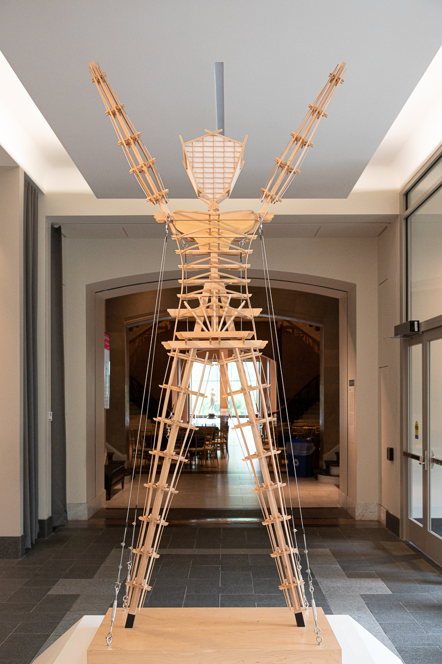 Pictured: Model of the Man (2017) / No Spectators: The Art of Burning Man, while still smoldering from its hot feature in DC's prestigious Renwick Gallery, spreads its colorful tendrils throughout two floors of the Cincinnati Art Museum from now until September 2, 2019. CAM is the only museum in the entire Midwest that's planned to receive the show, attracting spectators (despite its title) from peer cities around the country. Burning Man is a contemporary art show that gathers in the desert outside Reno, Nevada once a year. The exhibit, which pulls art from Burning Man, puts installations in various galleries throughout the museum to encourage exploration. / Image: Phil Armstrong, Cincinnati Refined // Published: 6.21.19