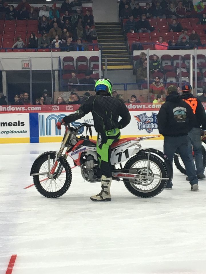 Motorcycles roar on ice for charity (Photo Credit: Marketia Bady)