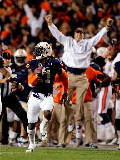Chris Davis' 109-yard missed field goal return for an Auburn touchdown to beat Alabama in the Iron Bowl was namd the 2013 Play of the Year.