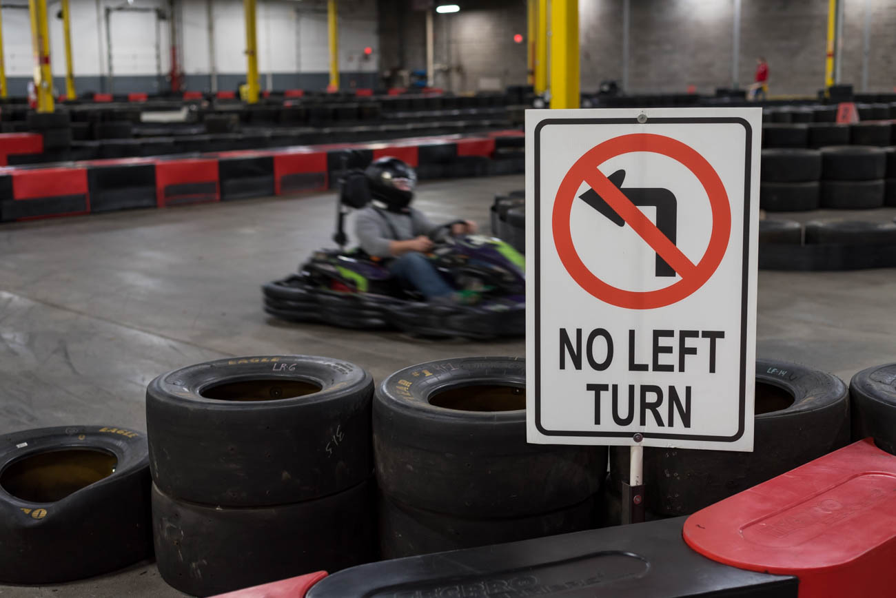 Full Throttle Indoor Racing is also available for corporate events and parties. From bachelor and bachelorette parties to Bar and Bat Mitzvahs to family reunions, they can handle your celebration. / Image: Mike Menke // Published: 1.3.17