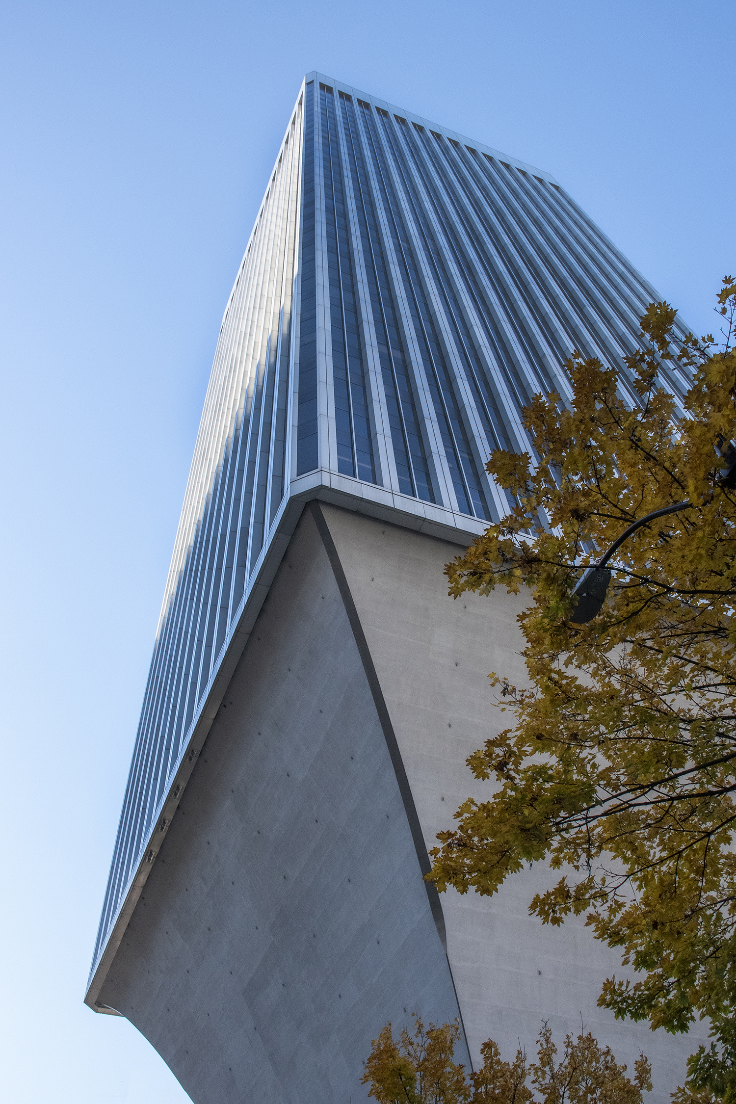 Take a stroll along 5th Avenue downtown and ponder the unique, anxiety-inducing construction of the Rainier Tower. Built in 1977, the 41-story skyscraper's upward flair was actually designed by Japanese-American architect, Minoru Yamasaki — the designer of the World Trade Center in New York City. (Image: Rachael Jones / Seattle Refined)
