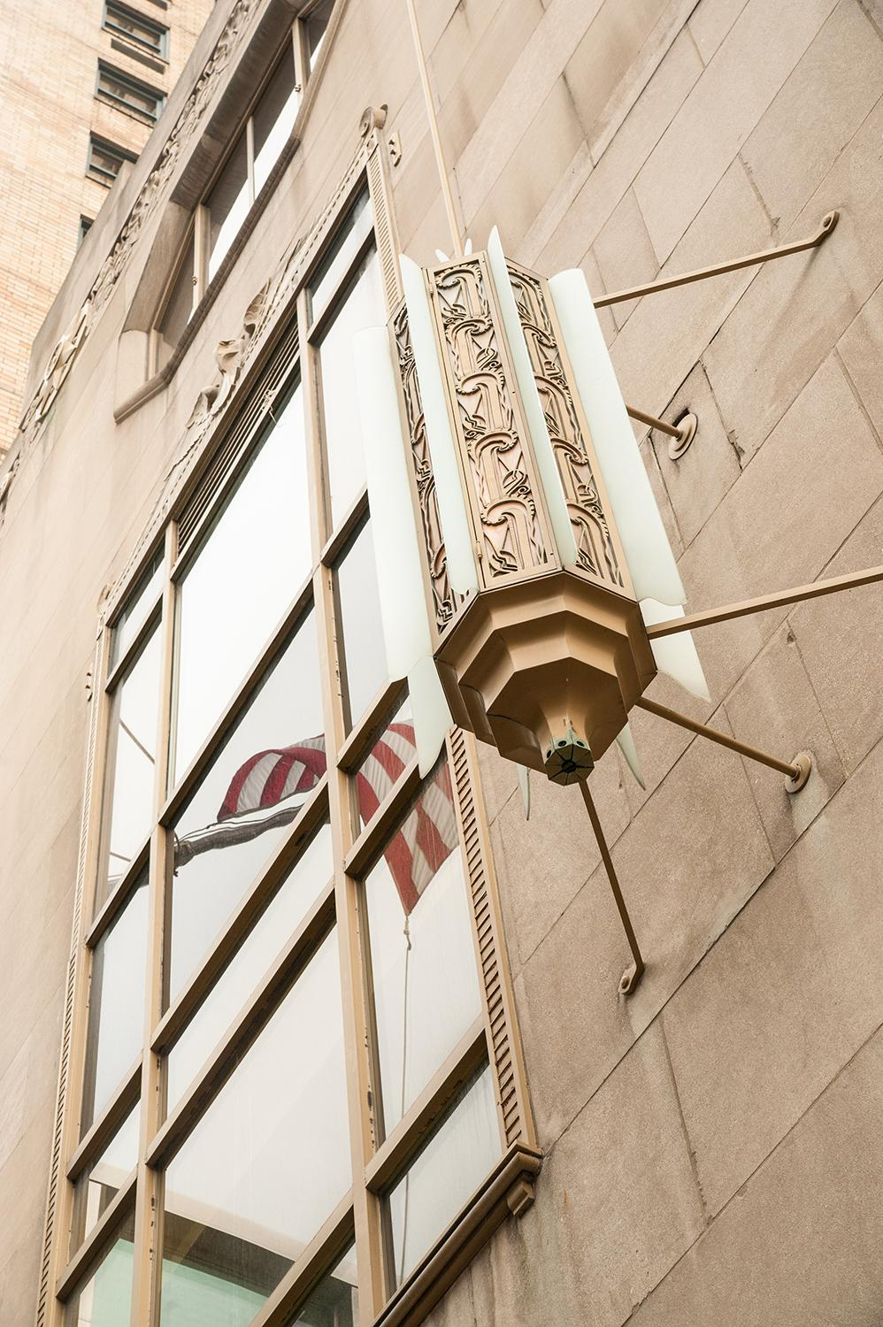 BUILDING: Hilton Cincinnati Netherland Plaza / LOCATION: 35 W 5th St (45202) -- Downtown / TIDBIT: The French Art Deco aesthetic can be found throughout the building, with light fixtures often playing a starring role. / IMAGE: Melissa Doss Sliney