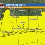 Tornado watch no longer in effect for Escambia County, Florida and Baldwin County