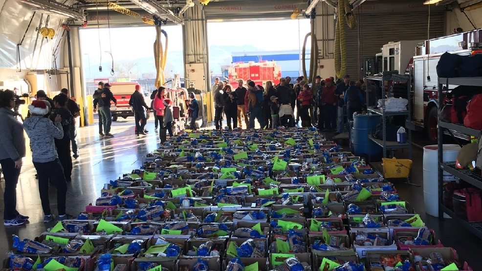 Reno Fire Department hosts annual food basket donation