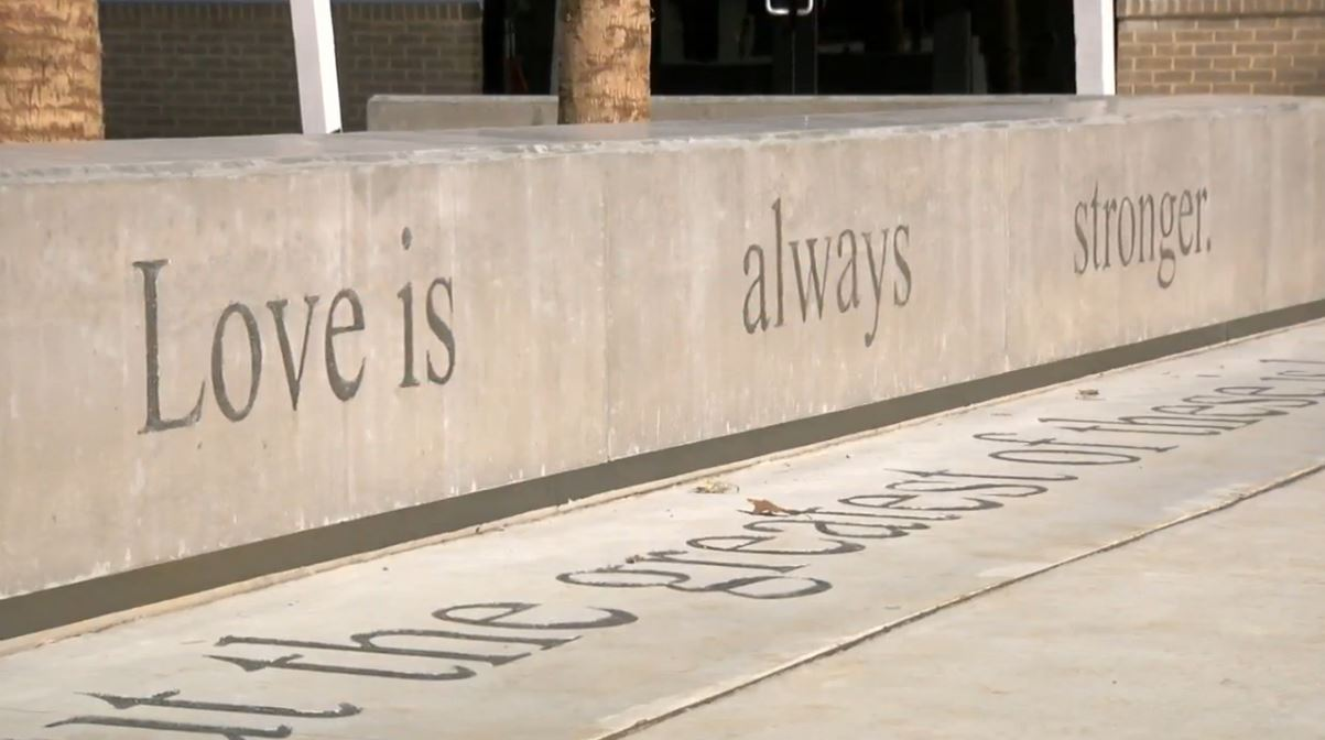 'Love is always stronger' Singleton Baseball Complex (WCIV).JPG