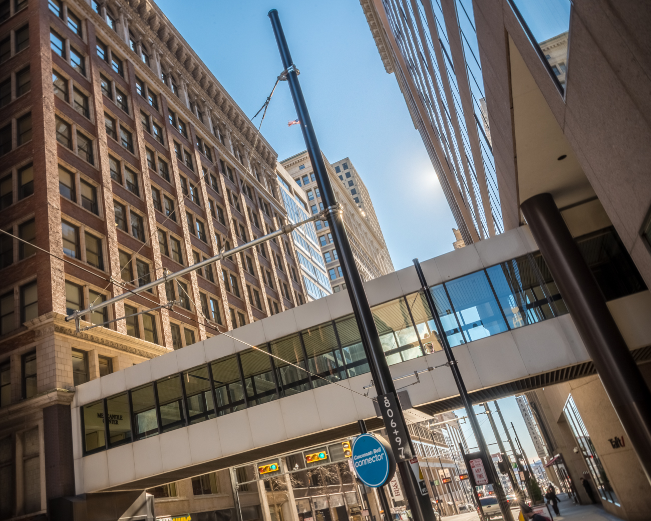CONNECTS: US Bank Tower with Mercantile Library building / CROSSES: Walnut Street / STATUS: Public // Image: Phil Armstrong, Cincinnati Refined // Published: 1.9.17