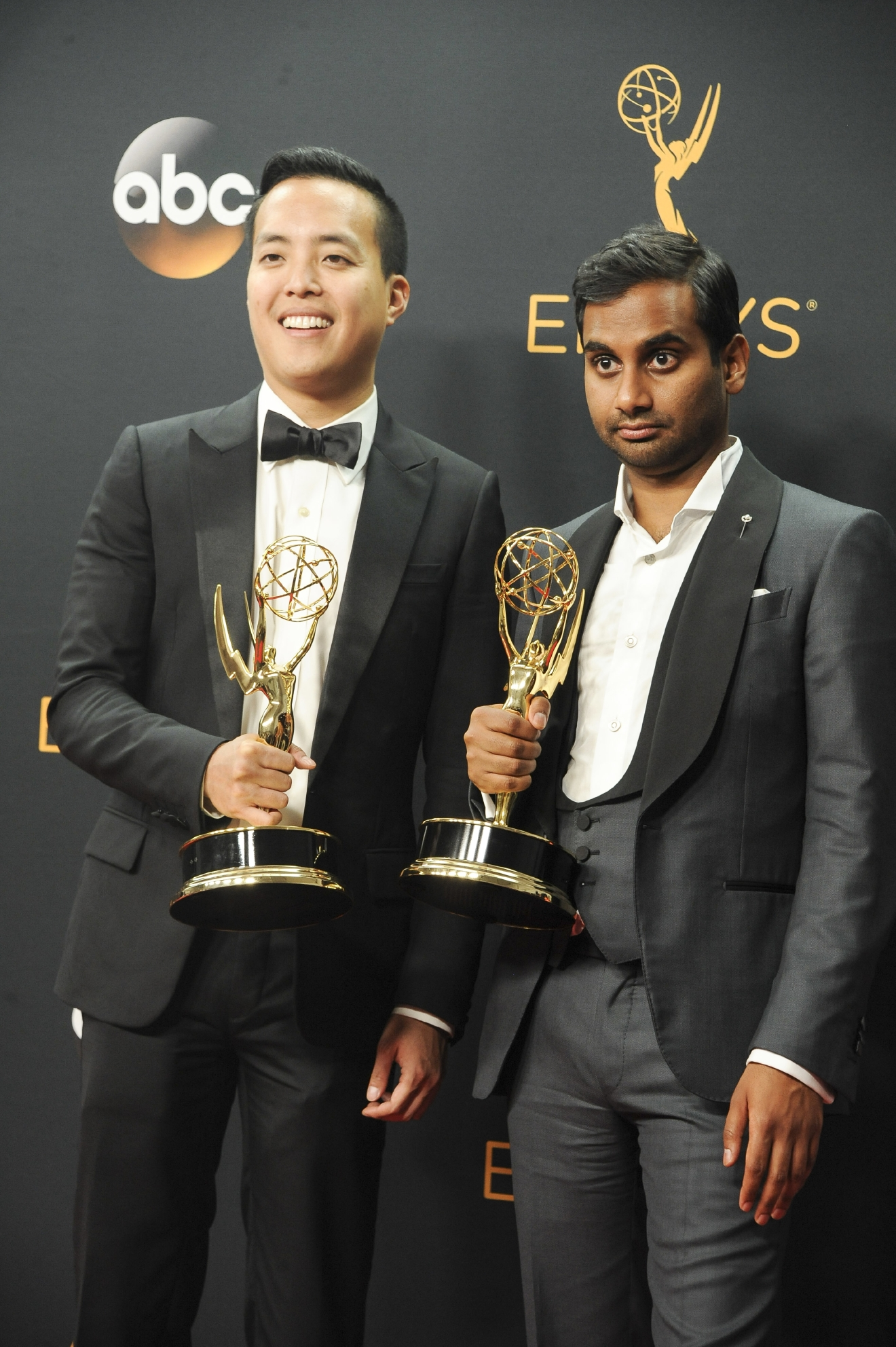 68th Emmy Awards held at the Microsoft Theater - Press Room  Featuring: Alan Yang, Aziz Ansari Where: Los Angeles, California, United States When: 18 Sep 2016 Credit: Apega/WENN.com