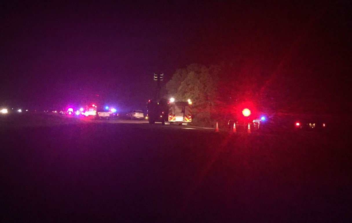 <p>A 23-year-old Beaumont man was found dead from an apparent gunshot wound Tuesday morning after a crash on Highway 90 in Jefferson County, according to the Texas Department of Public Safety. (KFDM/Fox 4 photos)</p>
