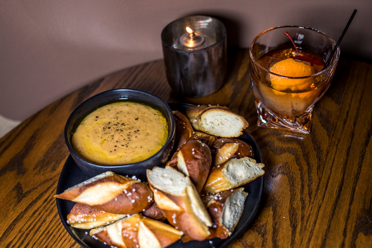 House-made beer cheese and pretzel bread / Image: Catherine Viox // Published: 2.25.21