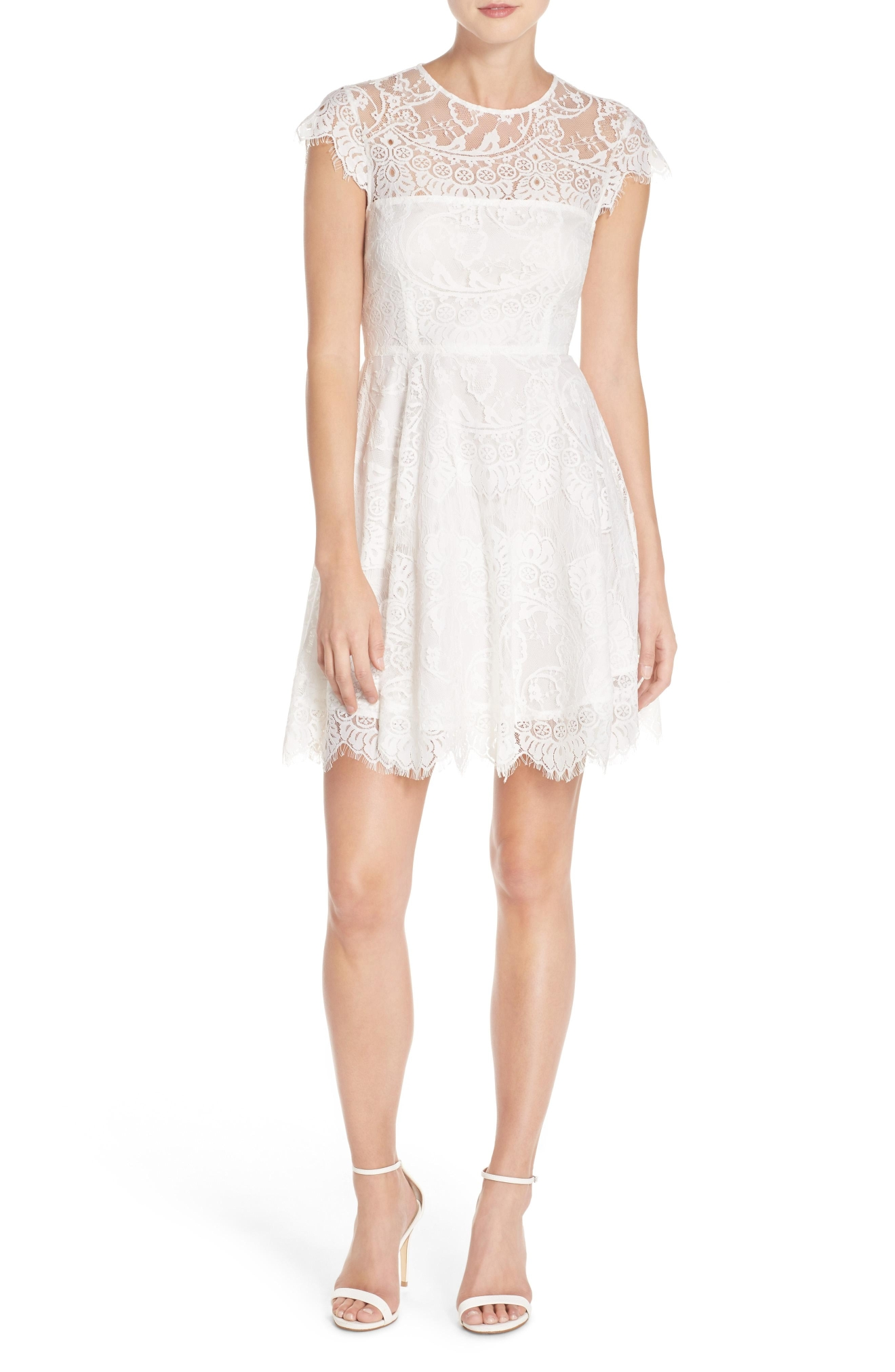 BB Dakota 'Rhianna' Illusion Yoke Lace Fit & Flare Dress, $98, Nordstrom.com (Image: Courtesy Nordstrom)
