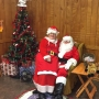 Santa grabs breakfast in Goshen