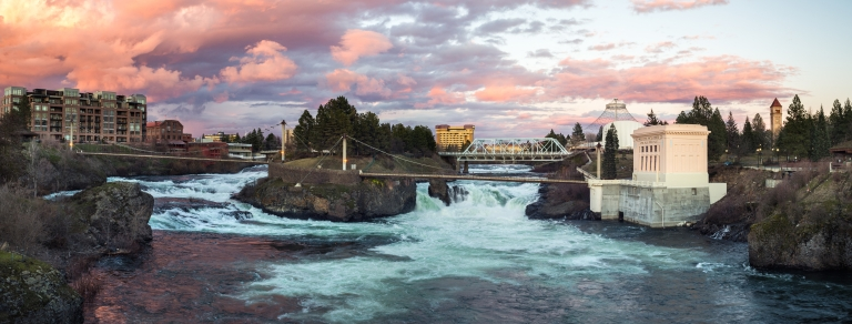 Washington's second-largest metro area lies east of the mountains and is often overlooked as a weekend getaway. But don't overlook Spokane. This city has a lot going on and has an impressive food scene. Photo Courtesy Visit Spokane