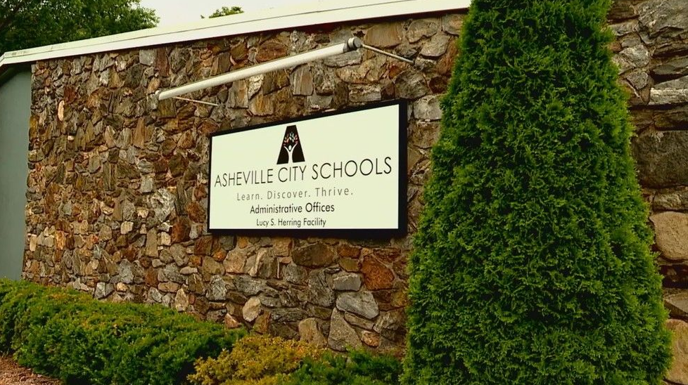 Reopening plans are on the agenda Monday night for Asheville City Board of Education. (Photo credit: WLOS staff)
