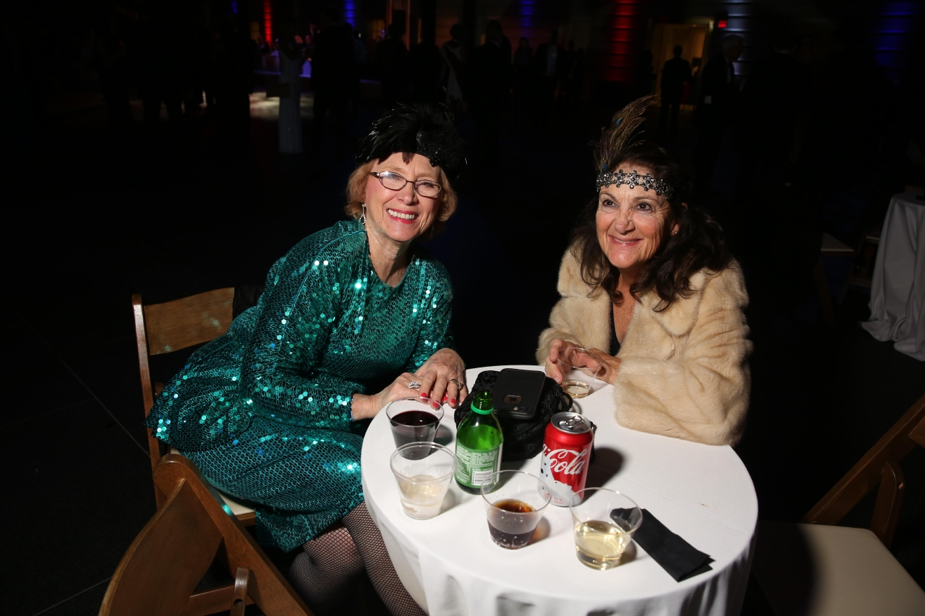 Trump may have promised to drag the U.S. into the future, but Washingtonians and visitors alike took a step into the past at Dardanella's Great Gatsby Inaugural Ball. The non-partisan party at the National Portrait Gallery featured 20s-influenced music and dancing. (Amanda Andrade-Rhoades/DC Refined)
