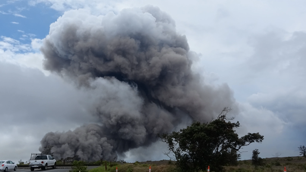 Inside the Storm: Huge smoke plumes pouring out of the Kilauea volcano in Hawaii