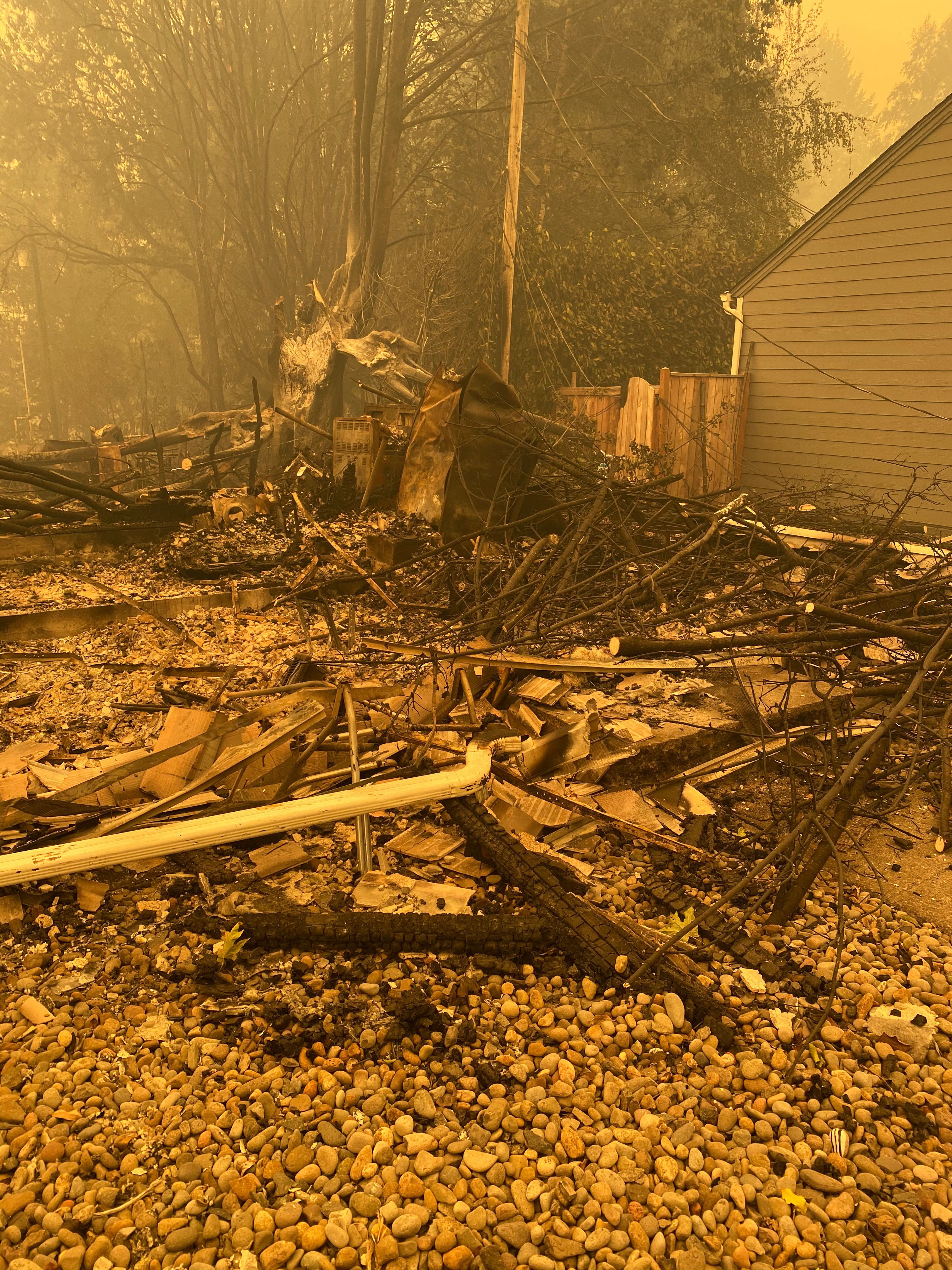 The Beachie Creek Fire destroyed the Johnson's Mill City home. (Photo: Lori Johnson)