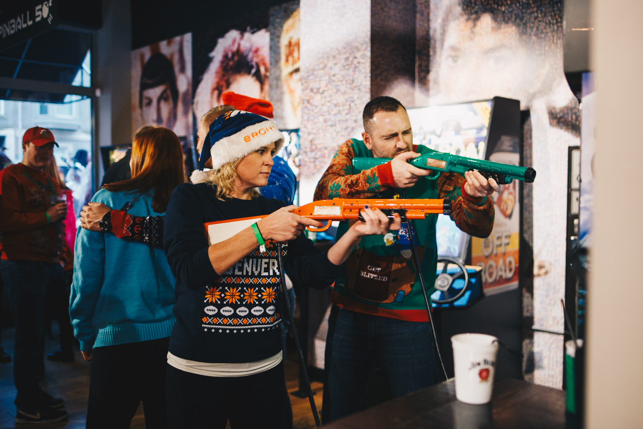 The 3rd annual Ugly Sweater Bar Crawl took place on Saturday, December 1. Tackily threaded bar crawlers met up at 16 Bit in Over-the-Rhine and traveled around the city to participating bars. / Image: Catherine Viox // Published: 12.2.18