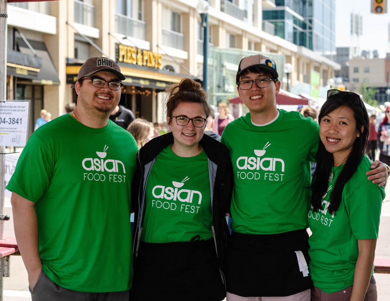 Timmy Phan, Katelynn Bruewer, Suchot Kongsomboonvech, and Diana Toan (Asian Food Fest volunteers) / Image: Kellie Coleman // Published: 5.13.19