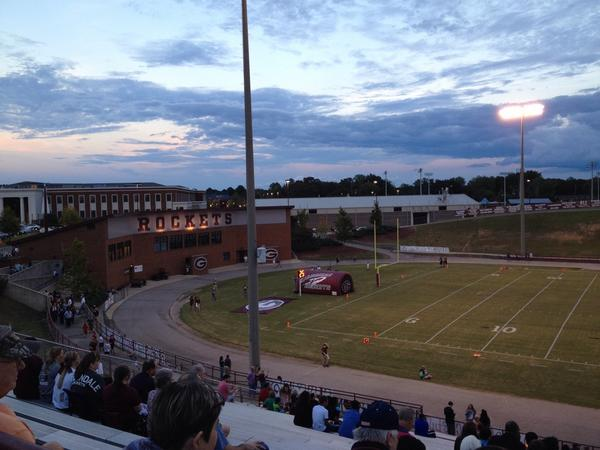 Sunset before kickoff at Gardendale High, Friday, Sept. 26, 2014.