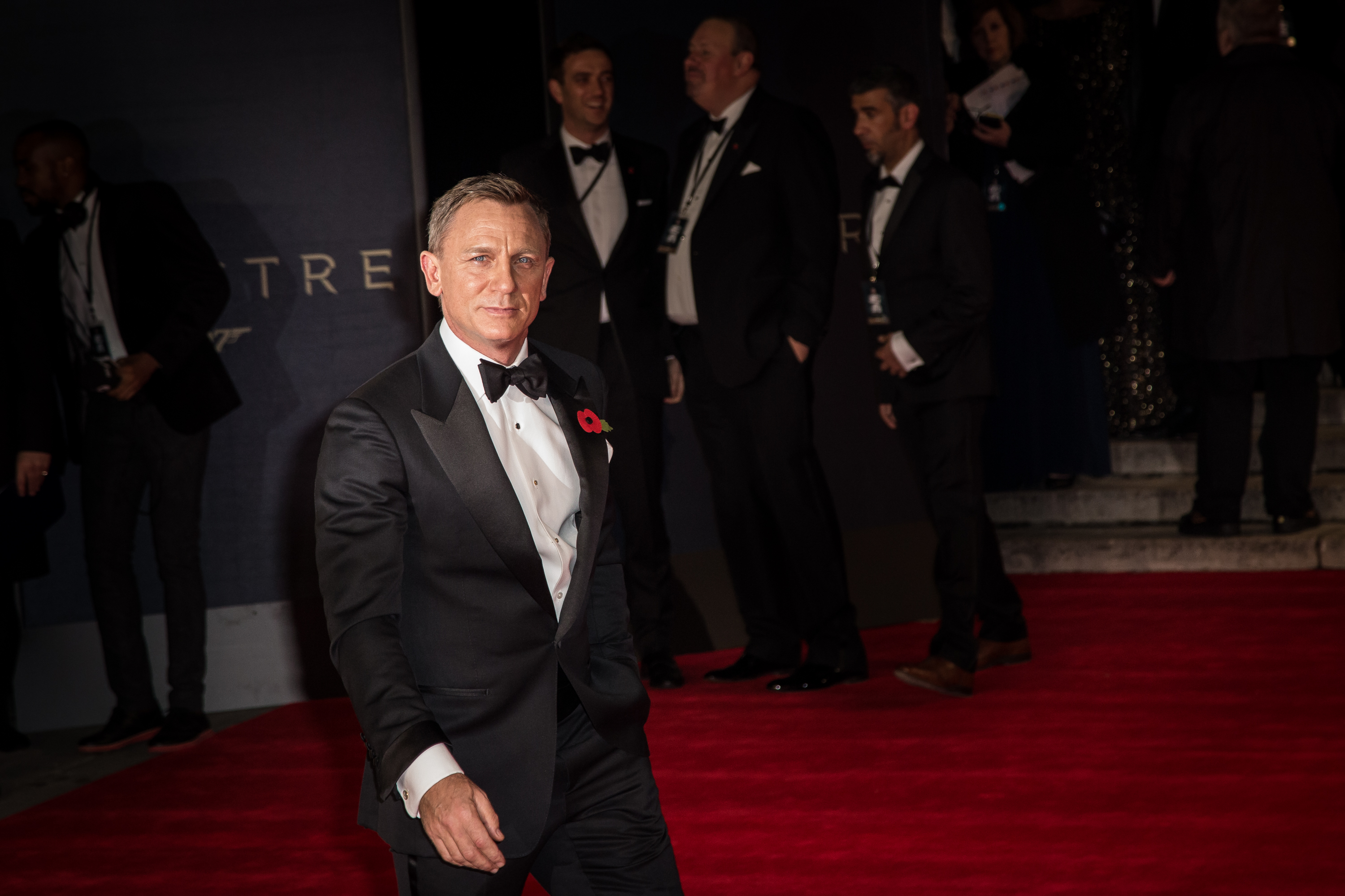 Daniel Craig poses for photographers upon arrival at the world premiere of the latest James Bond film, 'Spectre' in London, Monday, Oct. 26, 2015. (Photo by Vianney Le Caer/Invision/AP)