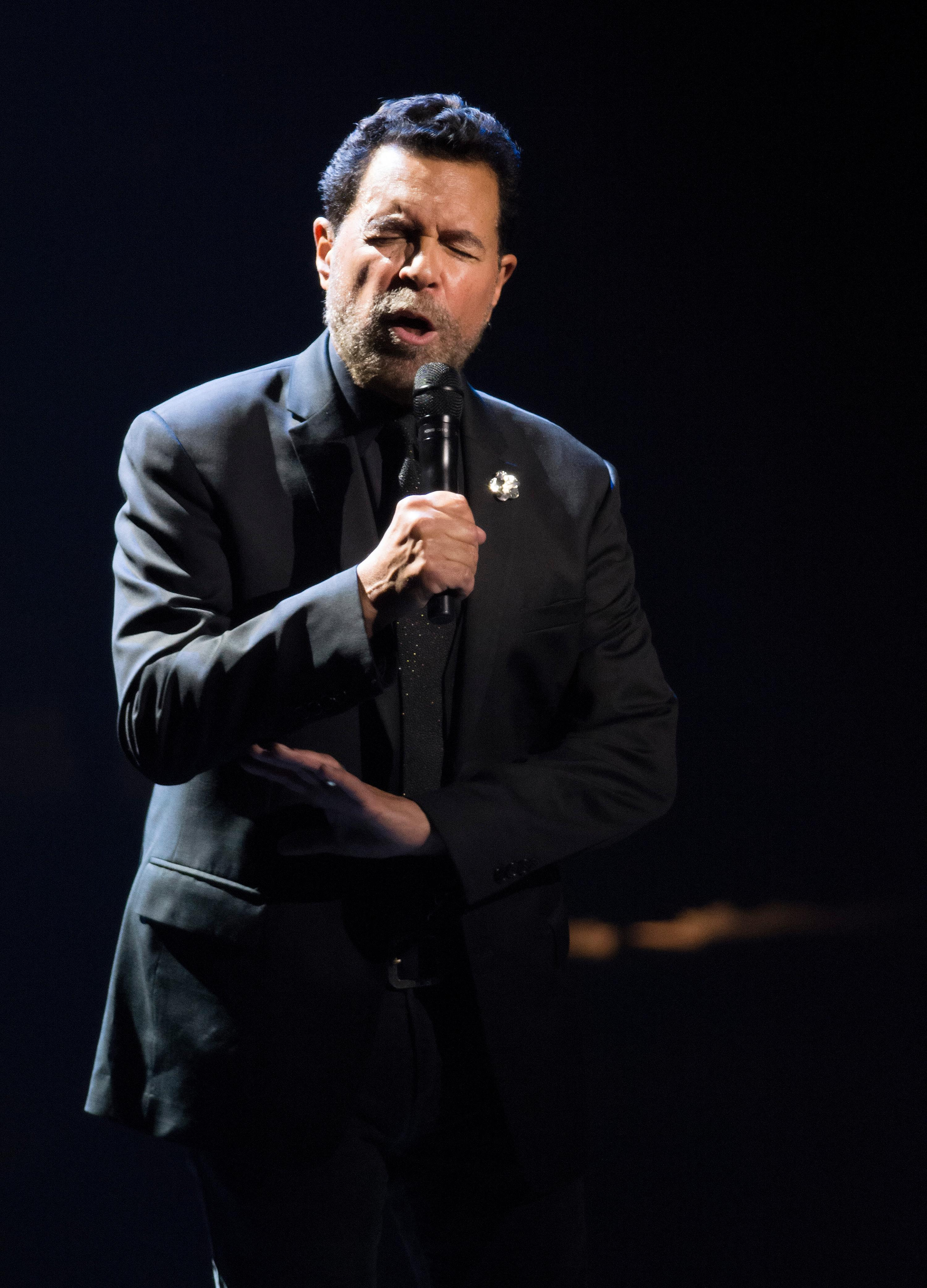 "Clint Holmes performs during the ""Vegas Cares"" benefit concert at the Venetian Theatre in the Venetian hotel-casino at 3355 S. Las Vegas Blvd in Las Vegas on Sunday, Nov 5, 2017. The concert was sponsored by a group of Las Vegas entertainers, producers and business professionals to honor the victims and first responders from the 1 October shooting tragedy. CREDIT: Bill Hughes/Las Vegas News Bureau"