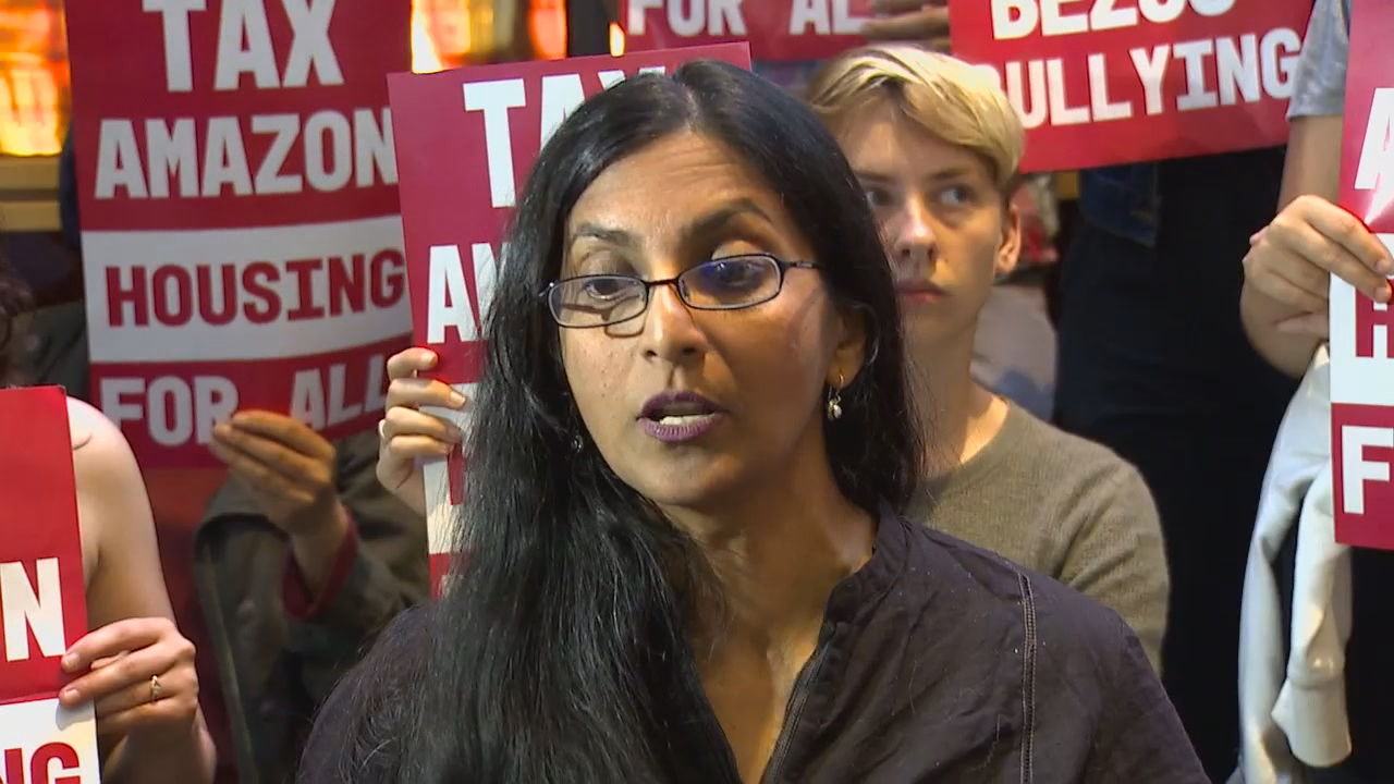 """This tax is not just about taxing big business. It is about the soul of our city itself,"" said Sawant. (Photo: KOMO News)"