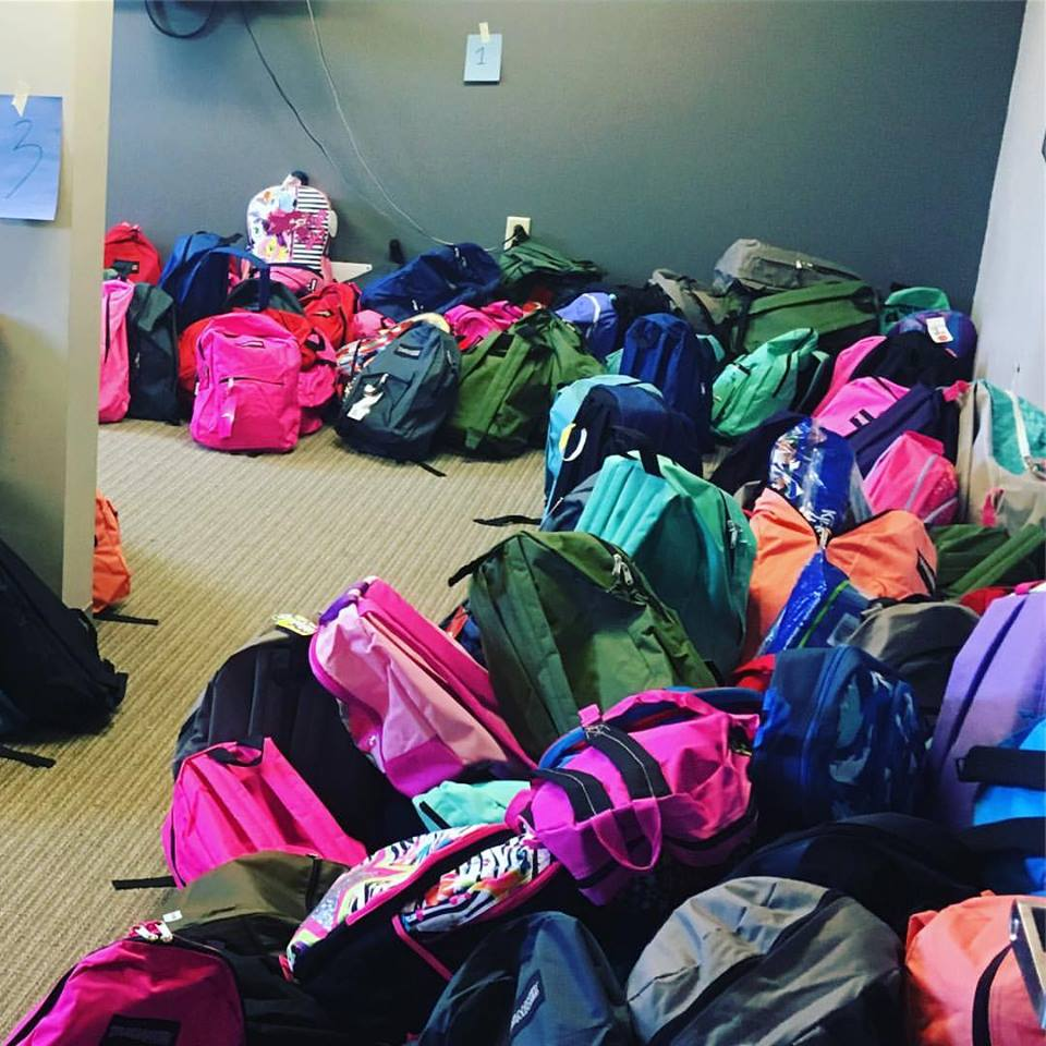 A Nashville pastor camped out on a rooftop to help gather school supplies for an entire elementary school. (Ryan Bult)