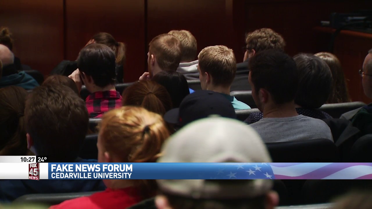 Cedarville forum highlights the difference between fake news and actual accomplishments (WKEF/WRGT)