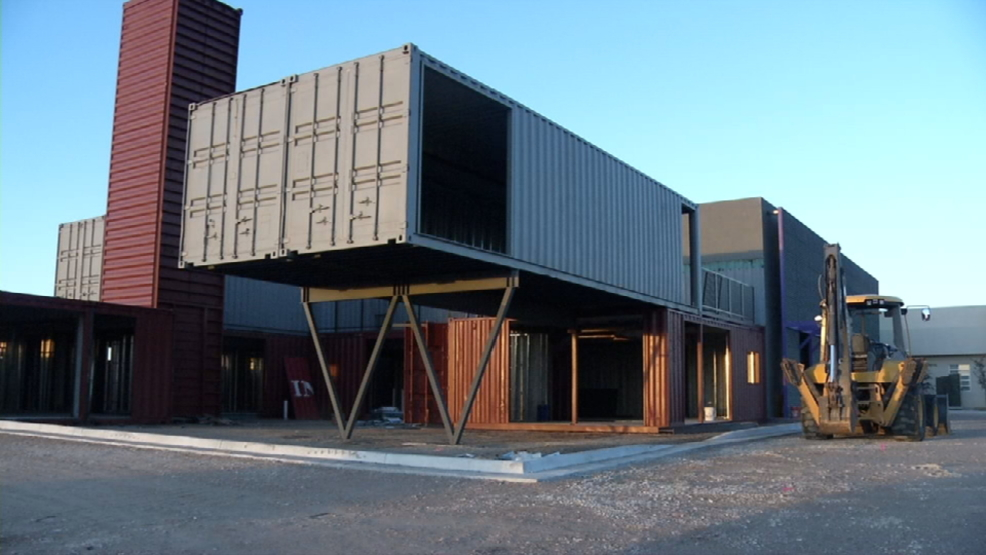 New Retail Center Built With Shipping Containers To
