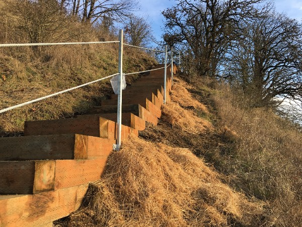 New hiking trail unveiled at Skinner Butte (Photo courtesy of Eugene Parks & Open Space).