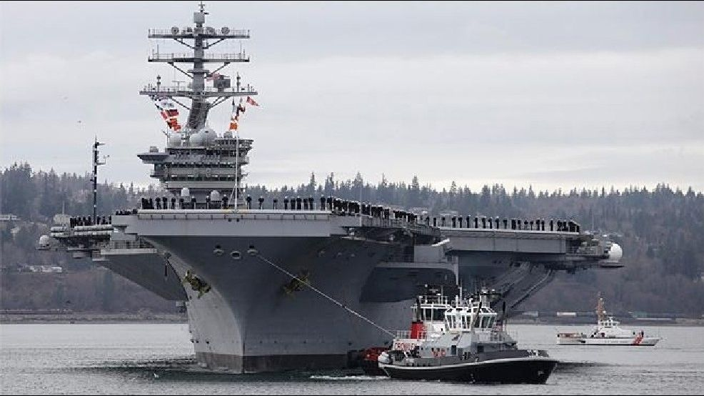 Dispute over infected sailors assigned to Bremerton-based air craft carrier