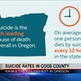 Coos County ranks 4th in state for suicides, which are up nationally 25% since 1999