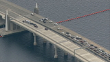 520 bridge reopens, 1 person taken into custody