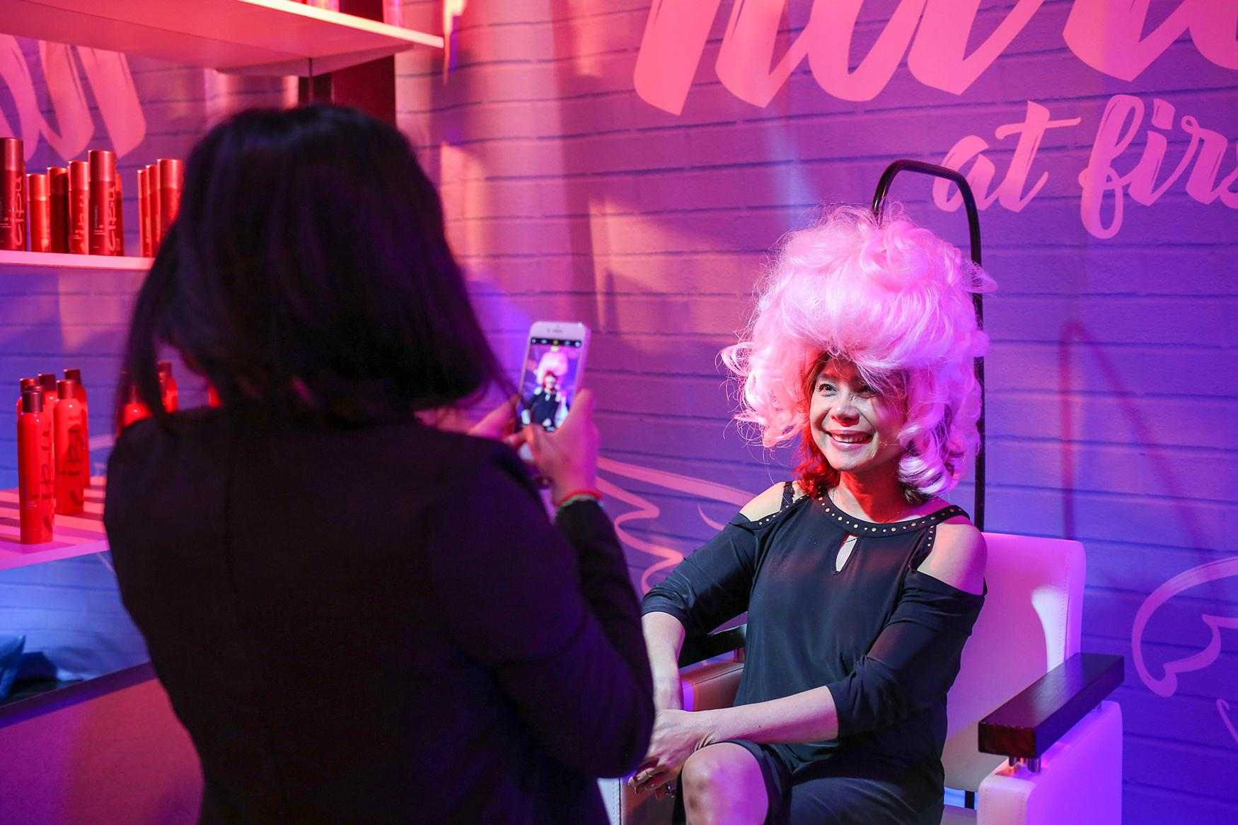 From now until Monday, September 3, you can stop by{ } Change it Up, a hair-themed pop-up in Tyson's Corner. Created by Hair Cuttery, the pop-up is meant to inspire you to change up your hair. The pop-up includes a ton of Instagram-worthy spaces, such as a ball pit, an infinity mirror room and selfie booths. You can also get a free pink hair extension - for each one staffers put in your hair, $25 will be donated the Capital Breast Care Center. (Amanda Andrade-Rhoades/DC Refined)