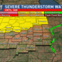 Severe Thunderstorm Watch Issued Until 1am