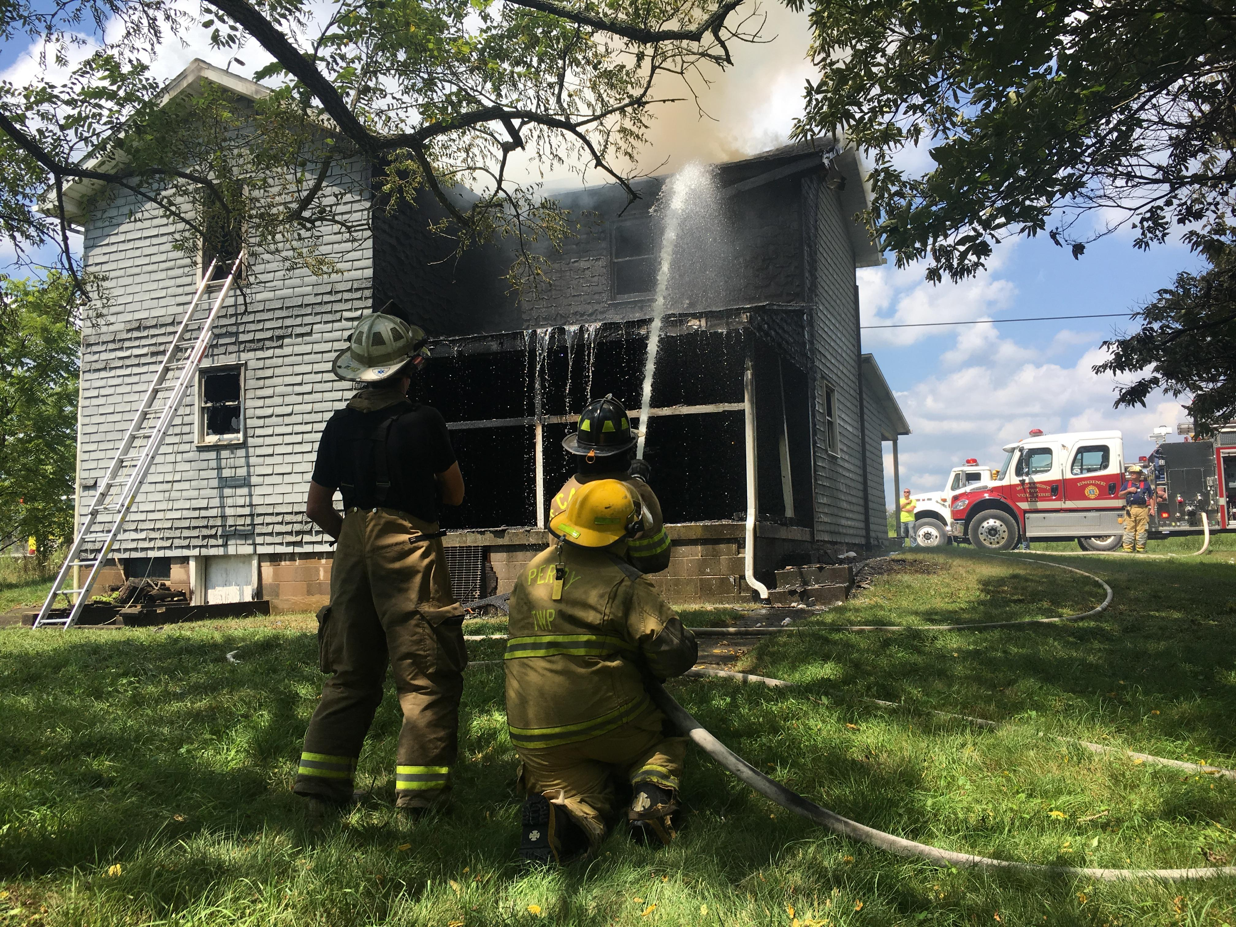 Firefighters were called to a house fire in Jefferson County around noon Tuesday. (WJAC)