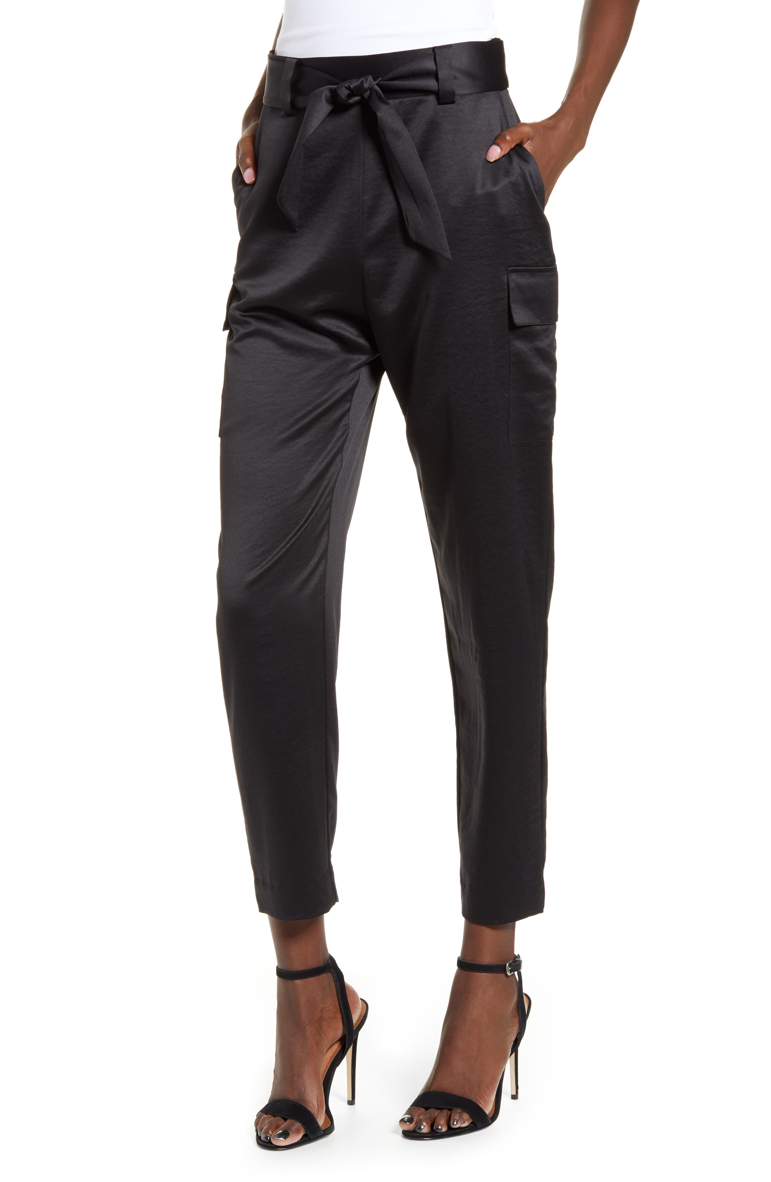 "<p>Smooth satin elevates a pair of versatile cargo pants with tapered legs and a paperbag-style tie waist. $59</p><p><a  href=""https://shop.nordstrom.com/s/leith-satin-cargo-pants/5372441/full?origin=category-personalizedsort&breadcrumb=Home%2FWomen%2FShop%20by%20Occasion%2FNight%20Out&color=black"" target=""_blank"" title=""https://shop.nordstrom.com/s/leith-satin-cargo-pants/5372441/full?origin=category-personalizedsort&breadcrumb=Home%2FWomen%2FShop%20by%20Occasion%2FNight%20Out&color=black"">Shop it{&nbsp;}</a></p><p>(Image: Nordstrom){&nbsp;}</p>"