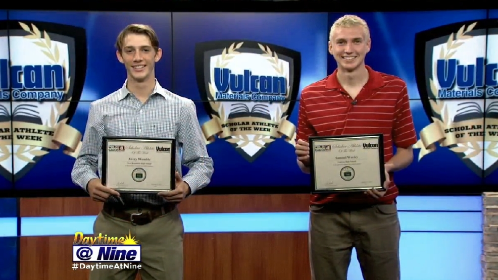 Daytime @ Nine -Vulcan Thursday Night Lights Scholar Athletes of the Week.PNG
